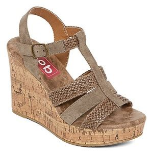 Strappy Braided Cork Wedge Sandal